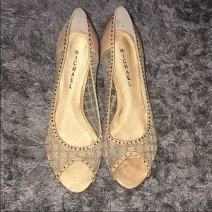 MICHAEL GOLD HEELS FIFI GREAT CONDITION SIZE 8.5